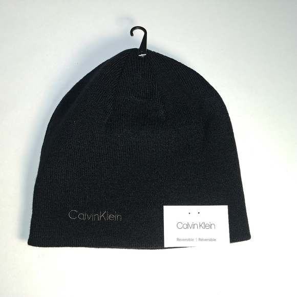 CK - Calvin Klein Reversible Men s Winter Knit Hat 39349e76d01